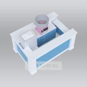 Торговая стойка (фризер + аппарат для сладкой ваты)